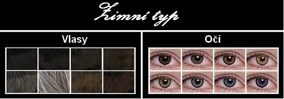 barva vlasů podle typu