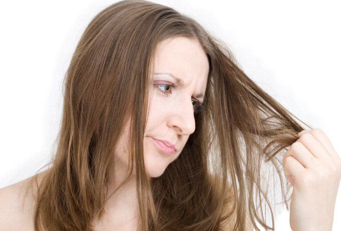 Woman dissatisfied with her hair